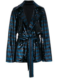 Rta Sequin Embellished Jacket Black