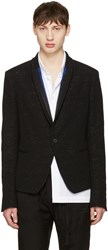 Haider Ackermann Black Metallic Striped Lapel Blazer