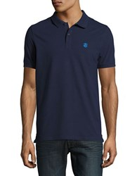 Selected Embroidered Logo Polo Peacoat