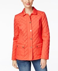 Charter Club Quilted Jacket Only At Macy's New Coral