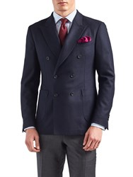 Thomas Pink Heathcliff Double Breasted Wool Cashmere Blazer Navy