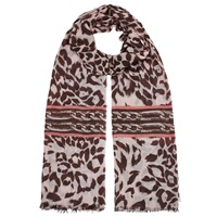Lola Rose Leopard Chain Scarf Brown