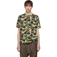 Junya Watanabe Green And Brown Camo T Shirt