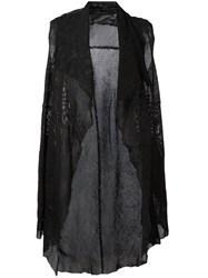 Salvatore Santoro Perforated Sleeveless Coat Women Leather 42 Black
