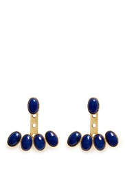 Ela Stone 'Jenny' Stone Fan Earrings Metallic Blue