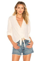 1.State Ls Button Down Tie Front Blouse Cream