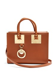Sophie Hulme Medium Albion Box Leather Bag Tan