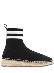 Alexander Wang 30Mm Dyllan Knit High Top Sneakers Black White