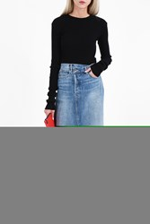 Helmut Lang Women S Ribbed Sleeve Top Boutique1 Black