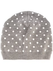 N 21 No21 Polka Dot Beanie Grey