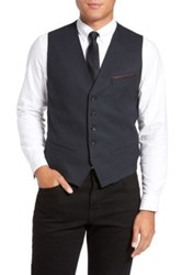 Ted Baker Cabwai Woven Four Button Vest Blue
