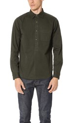 Alex Mill Popover Work Shirt Dark Moss