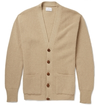 Kingsman Chunky Knit Cashmere Cardigan Brown