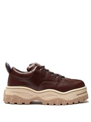 Eytys Angel Exaggerated Sole Leather Trainers Brown
