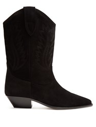 Isabel Marant Etoile Dallin Leather Western Boots Black