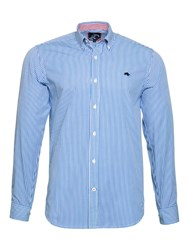 Raging Bull Men's Candy Stripe Shirt Blue