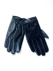 Relish Eco Leather Studded Gloves Black