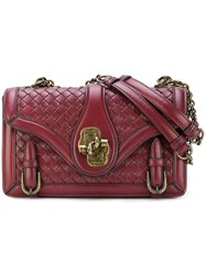 Bottega Veneta Intrecciato City Knot Bag Lamb Skin Red