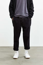 Urban Outfitters Uo Elastic Waist Brushed Menswear Pant Black