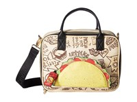 Betsey Johnson Taco Lunch Tote Natural Tote Handbags Beige