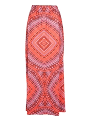 Jane Norman Tile Print Maxi Skirt Multi Coloured