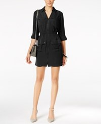 Alfani Utility Shirtdress Only At Macy's Deep Black