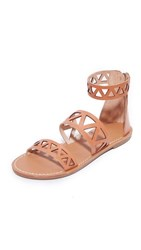 Soludos Geo Laser Cut Band Sandals Sunburst