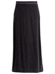 Max Studio Long Jersey Skirt Black