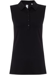 Callaway Chev Solid Sleeveless Polo Black