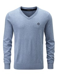 Henri Lloyd Men's Moray Regular V Neck Knit Jumper Blue