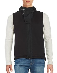 Nautica Tech Hooded Vest Black