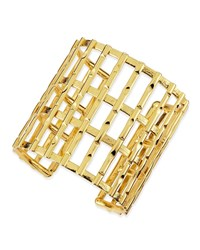 Nest Gold Plated Bamboo Lattice Cuff