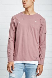 Forever 21 Distressed Long Sleeve Tee