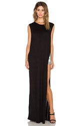 Nytt High Slit Maxi Tank Black