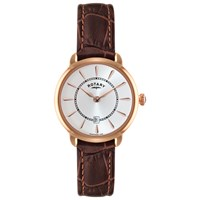 Rotary Ls02919 03 Women's Elise Leather Strap Watch Brown White