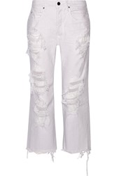 Alexander Wang Rival Distressed Low Rise Boyfriend Jeans Lilac