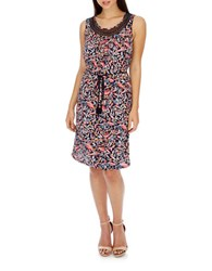 Lucky Brand Lace Inset Sleeveless Dress Multi