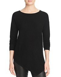 Bloomingdale's C By Asymmetric Cashmere Sweater Black