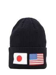 New Era Flag Watch Knit Beanie Hat Black