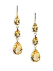 Roberto Coin Citrine And 18K Yellow Gold Linear Drop Earrings
