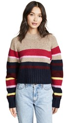 Current Elliott The Moonshine Sweater Brown And Multi
