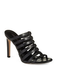 Bcbgeneration Callie Caged Leather Mules Black