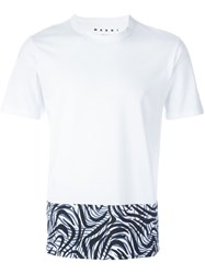Marni Printed T Shirt White