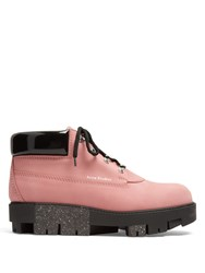 Acne Studios Tinne Track Sole Nubuck Ankle Boots Pink