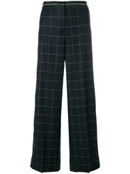 Elizabeth And James Woven Grid Palazzo Pants Blue