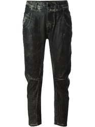 Diesel Black Gold Washed Slim Jeans