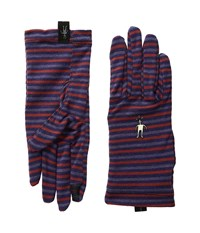 Smartwool Nts Mid 250 Pattern Gloves Mountain Purple Heather Wool Gloves Metallic