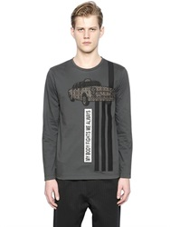 Antonio Marras Taxi Patch Long Sleeve Cotton T Shirt