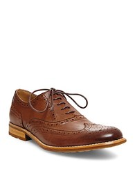 Steve Madden Gionni Leather Wingtip Oxfords Tan