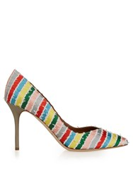 Malone Souliers Brenda Striped Satin Pumps
